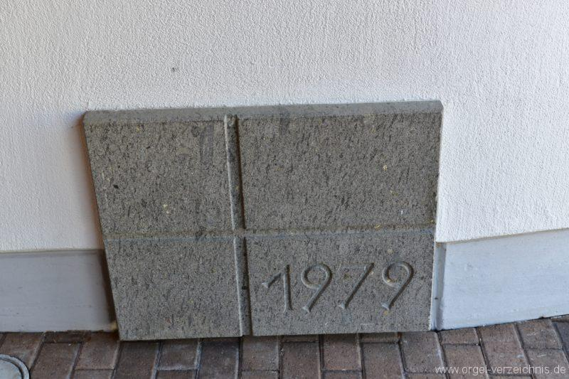 Schöftland Heilige Familie Grundstein