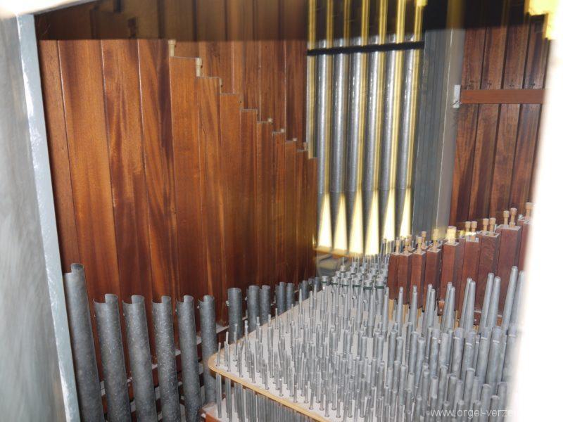 Berlin Wedding Baptistenkirche Orgel Innensansicht I