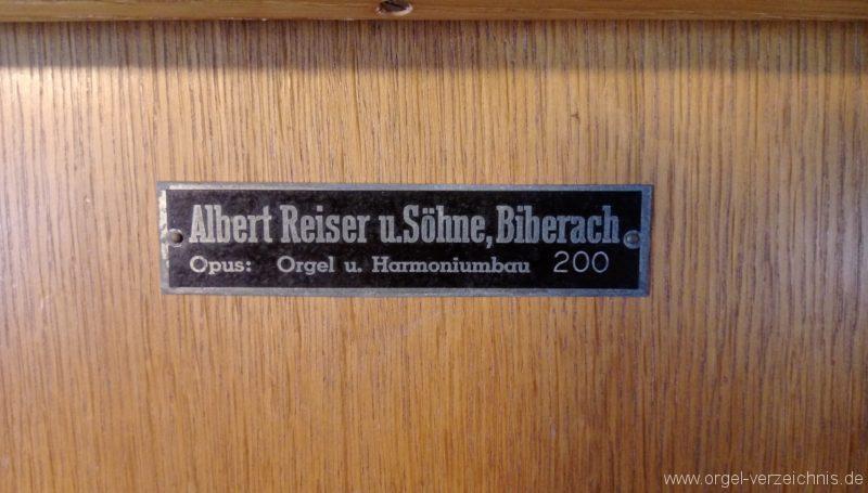 Münstertal Spielwegkapelle Firmenschild I