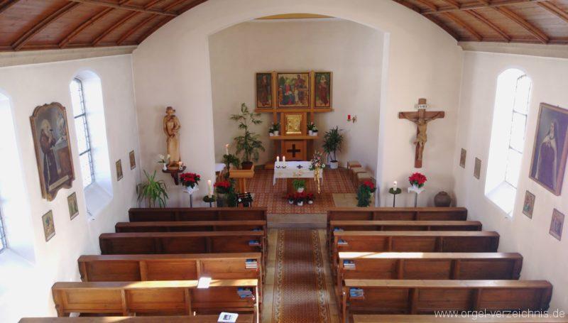 Münstertal Spielwegkapelle Innenansicht II