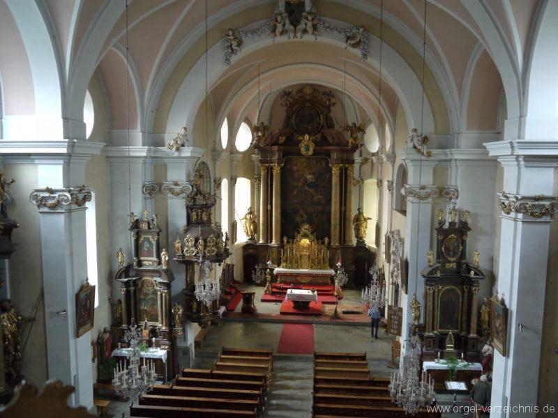 Berg Rohrbach Stadtkirche St. Jakobus Innenansicht I