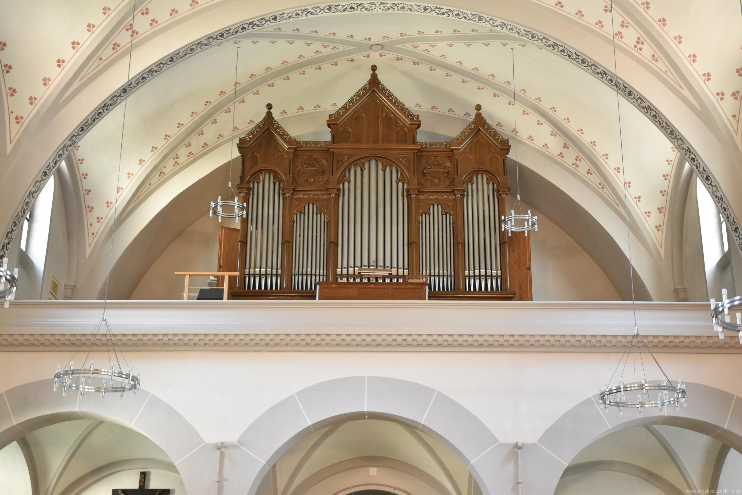 Göschenen St. Mariä Himmelfahrt Orgelprospekt I