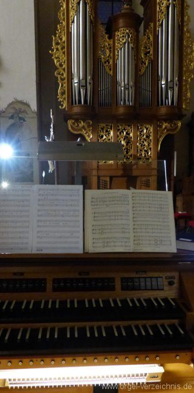 Münstertal St. Trudpert Chororgel Zweitspieltisch I