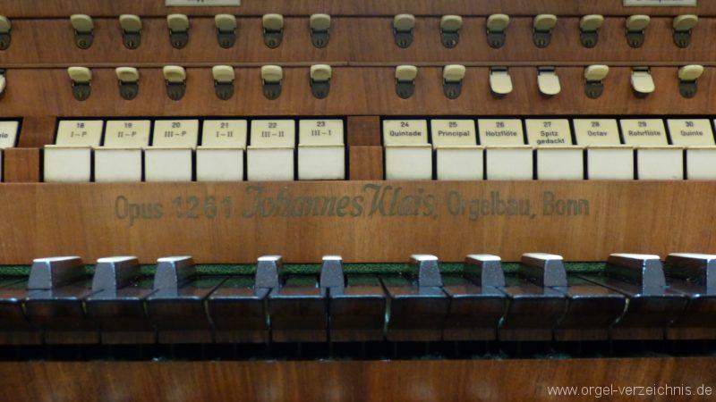 Münstertal St. Trudpert Hauptorgel Firmenschild I