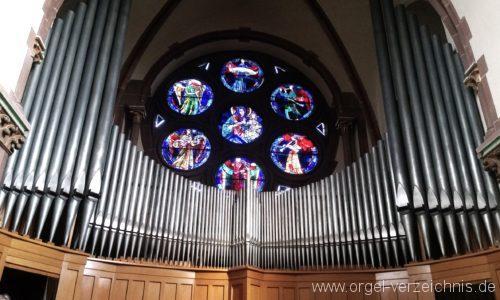 Freiburg im Breisgau Stühlinger Herz Jesu Orgelprospekt III