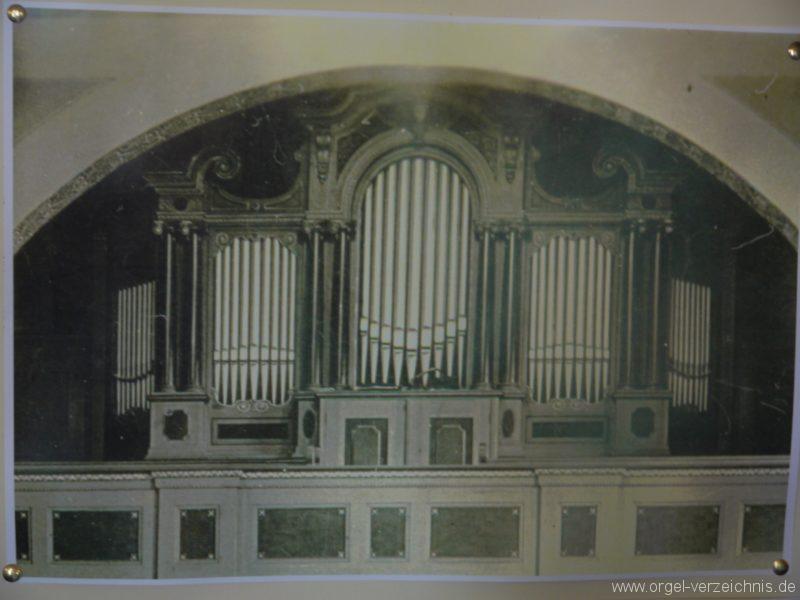 Königs Wusterhausen Niederlehme Dorfkirche Orgelprospekt Stich