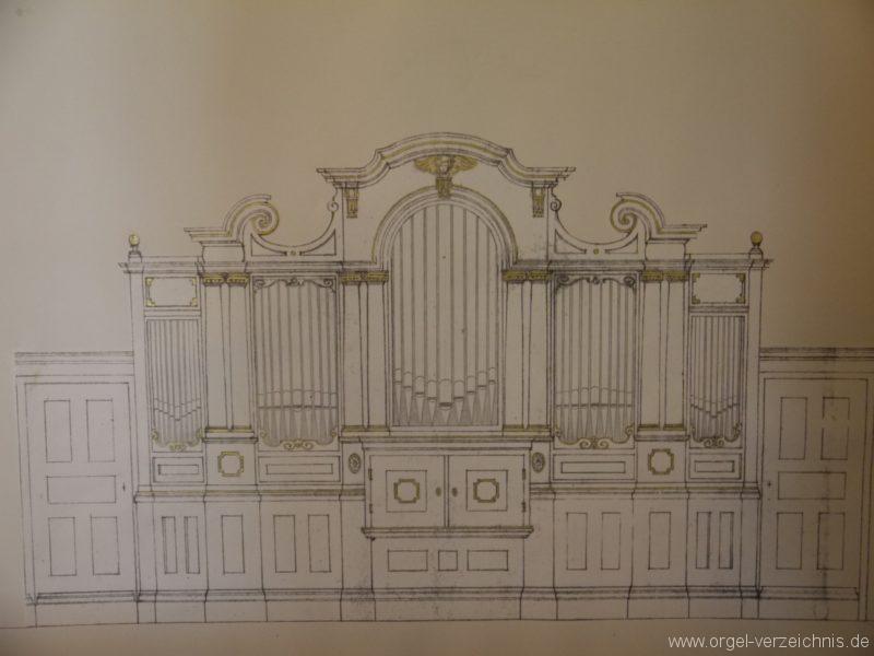 Königs Wusterhausen Niederlehme Dorfkirche Orgelprospekt Stich II