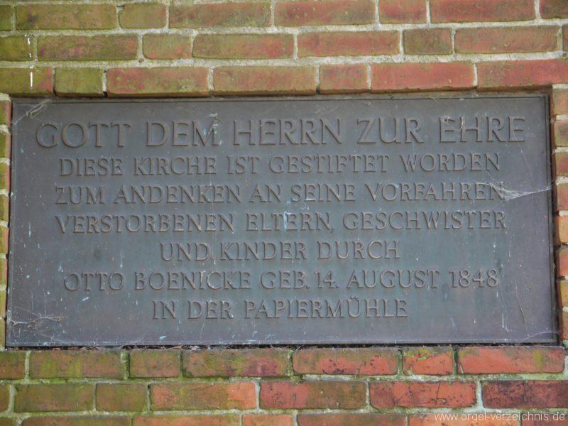 Nuthe Urstromtal Woltersdorf Gedenktafel I
