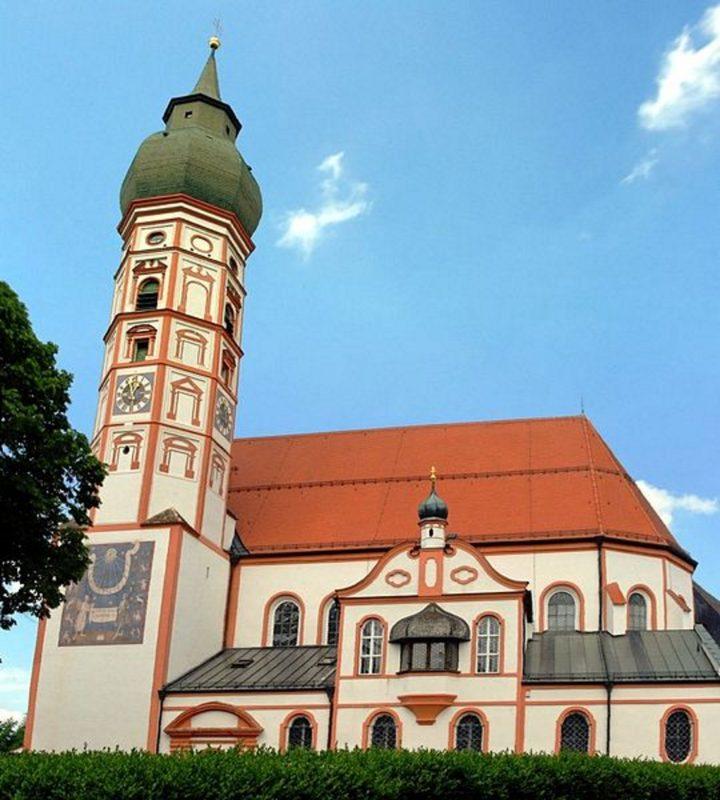 Andechs Wallfahrtskirche St. Nikolaus und Elisabeth Aussenansicht I