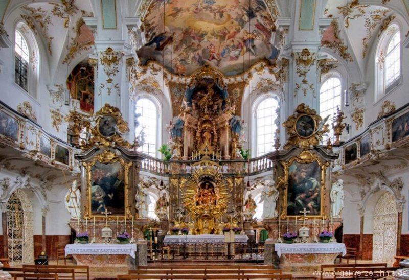Andechs Wallfahrtskirche St. Nikolaus und Elisabeth Innenansicht III