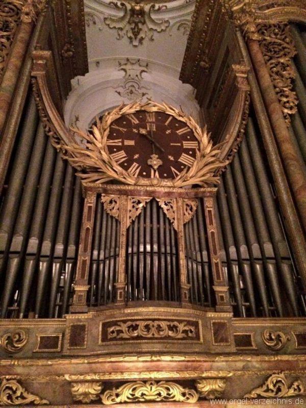 Andechs Wallfahrtskirche St. Nikolaus und Elisabeth Orgelprospekt Detail II