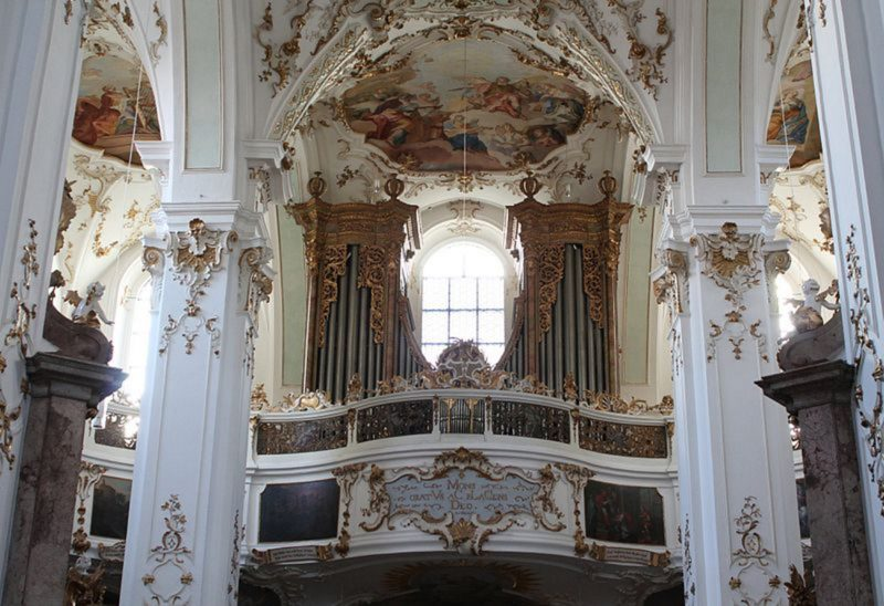 Andechs Wallfahrtskirche St. Nikolaus und Elisabeth Orgelprospekt I