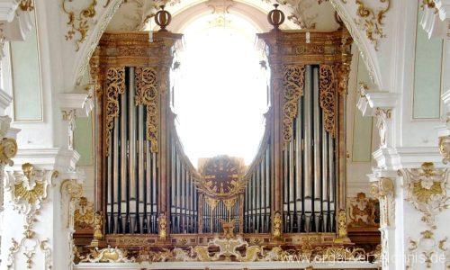Andechs Wallfahrtskirche St. Nikolaus und Elisabeth Orgelprospekt III