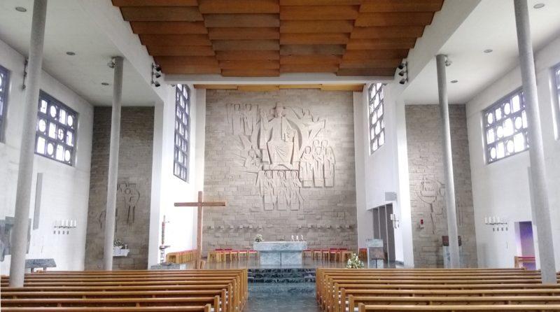 Gundelfingen Bruder Klaus Kirche Innenansicht III