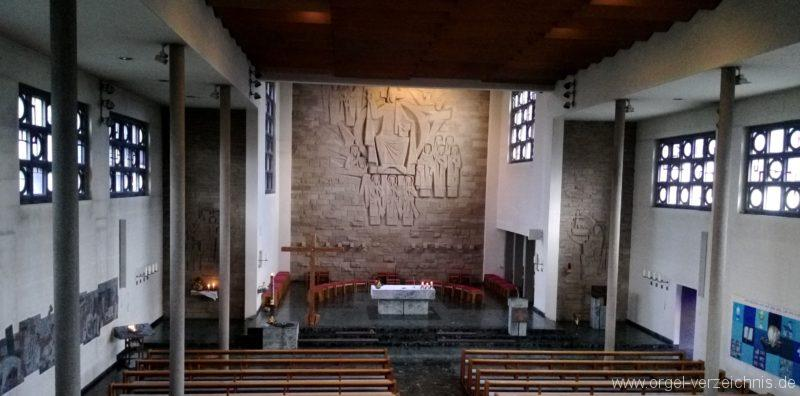 Gundelfingen Bruder Klaus Kirche Innenansicht IV