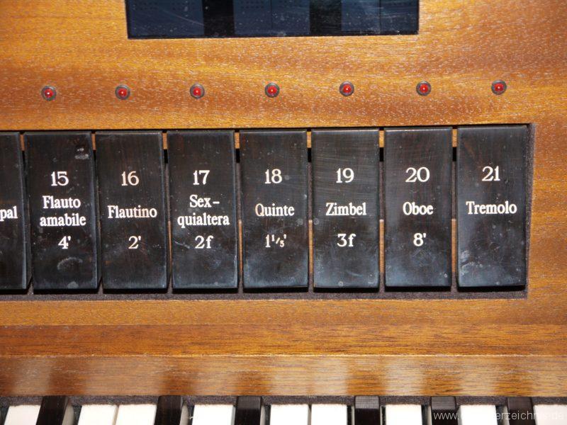 Zeuthen Martin Luther Kirche Registerstaffel III