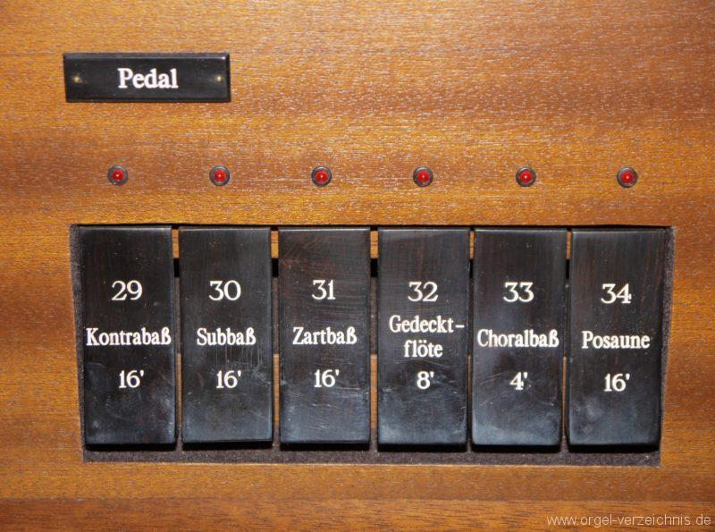 Zeuthen Martin Luther Kirche Registerstaffel V