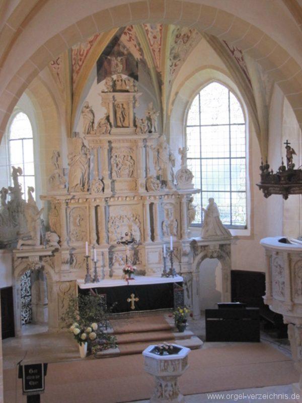 Lauenstein (Erzgebirge) Stadtkirche St. Marien und Laurentin Altar IV
