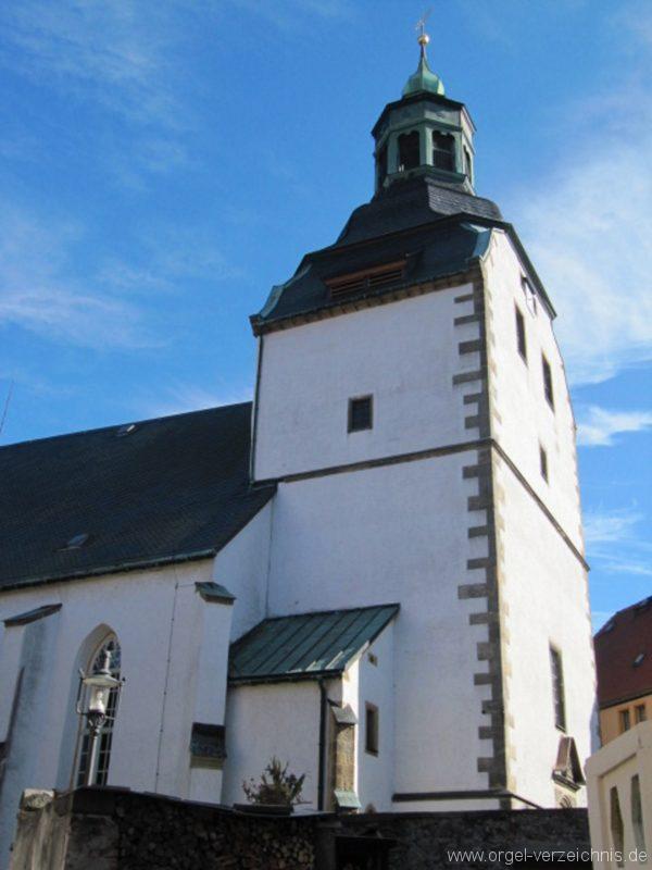 Lauenstein (Erzgebirge) Stadtkirche St. Marien und Laurentin Aussenansicht I