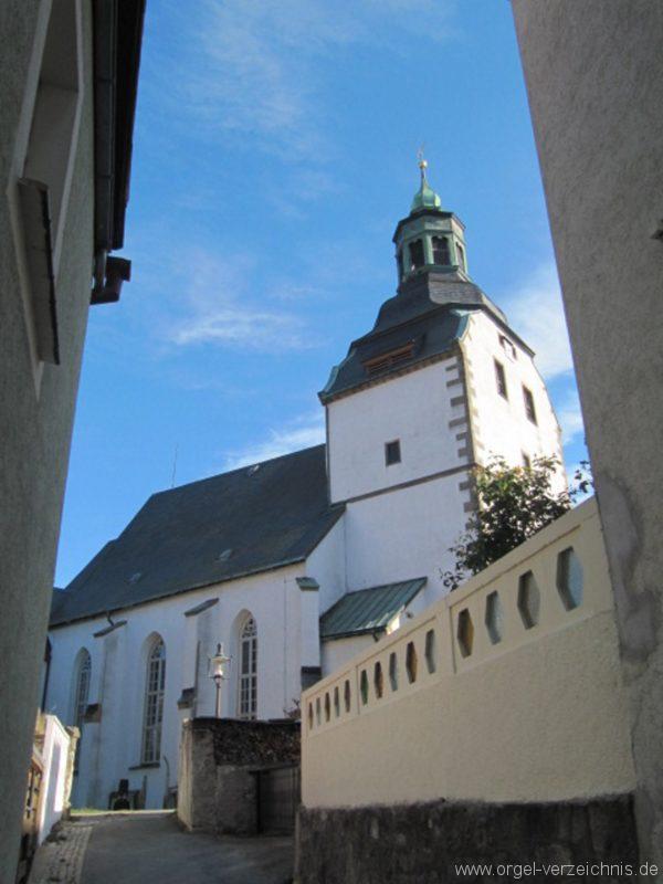 Lauenstein (Erzgebirge) Stadtkirche St. Marien und Laurentin Aussenansicht II