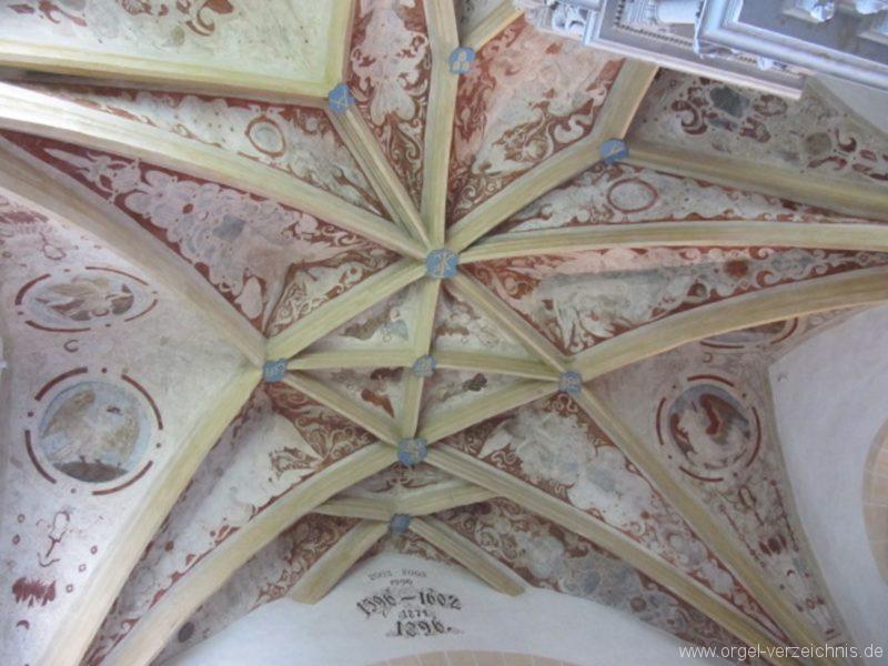 Lauenstein (Erzgebirge) Stadtkirche St. Marien und Laurentin Decke I