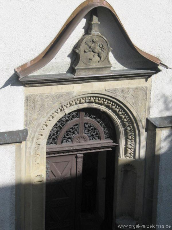 Lauenstein (Erzgebirge) Stadtkirche St. Marien und Laurentin Hauptportal I