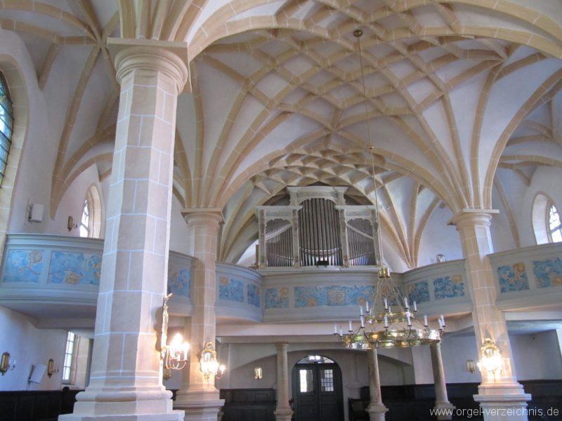 Lauenstein (Erzgebirge) Stadtkirche St. Marien und Laurentin Innenansicht II