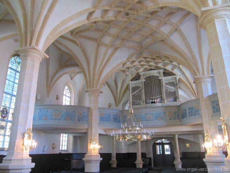 Lauenstein (Erzgebirge) Stadtkirche St. Marien und Laurentin Innenansicht III