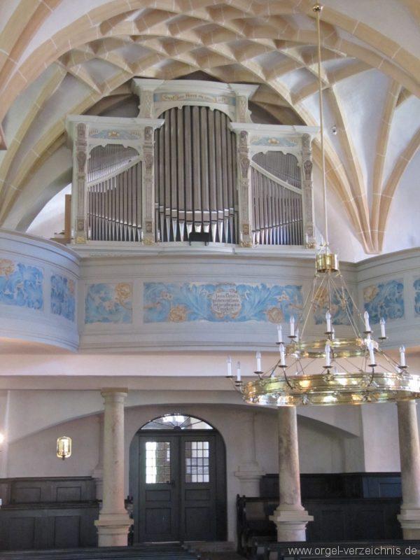 Lauenstein (Erzgebirge) Stadtkirche St. Marien und Laurentin Orgelprospekt I