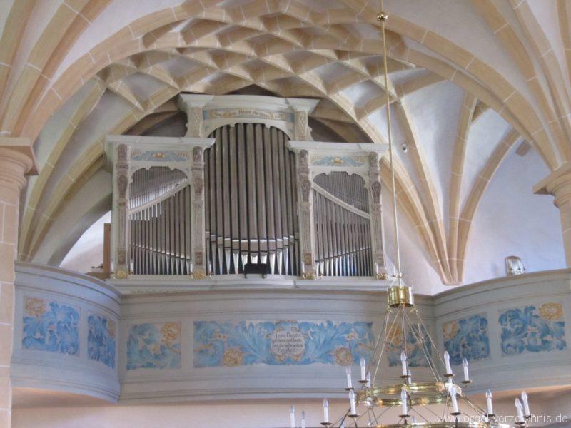 Lauenstein (Erzgebirge) Stadtkirche St. Marien und Laurentin Orgelprospekt II