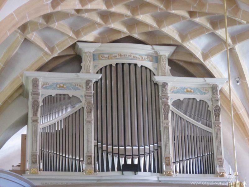 Lauenstein (Erzgebirge) Stadtkirche St. Marien und Laurentin Orgelprospekt III