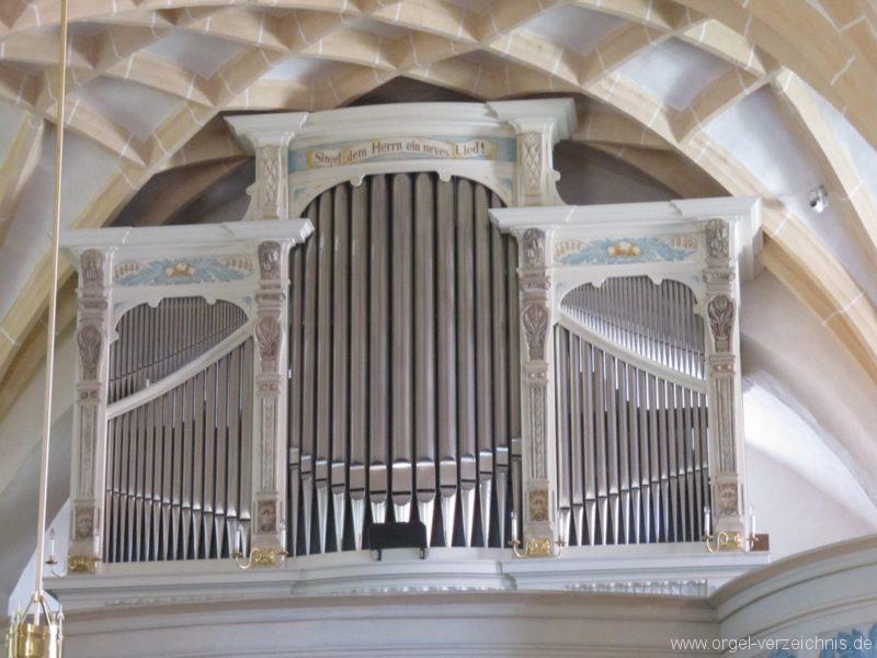 Lauenstein (Erzgebirge) Stadtkirche St. Marien und Laurentin Orgelprospekt IV