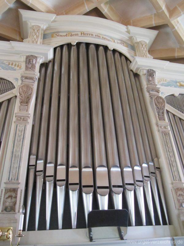 Lauenstein (Erzgebirge) Stadtkirche St. Marien und Laurentin Orgelprospekt IX