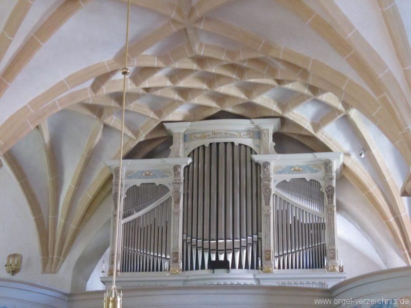 Lauenstein (Erzgebirge) Stadtkirche St. Marien und Laurentin Orgelprospekt V