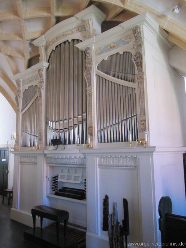 Lauenstein (Erzgebirge) Stadtkirche St. Marien und Laurentin Orgelprospekt VI
