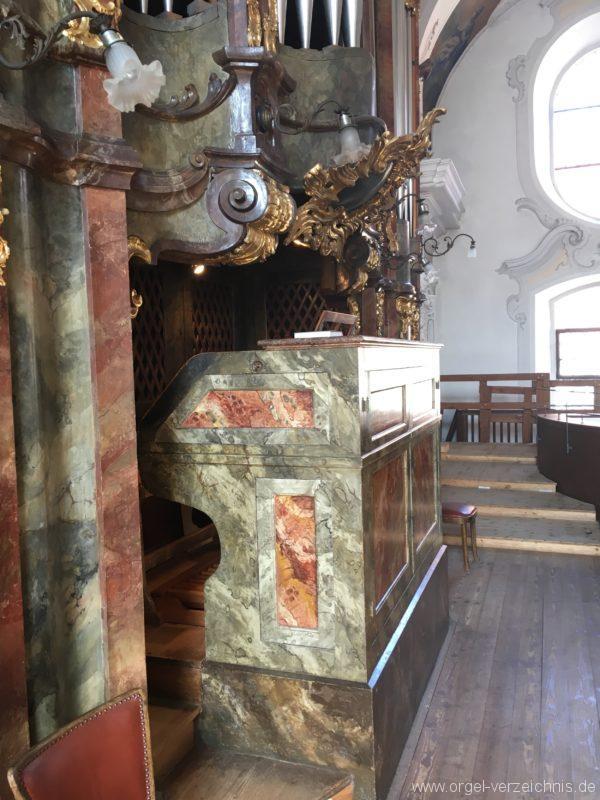 Lindau Münster Unserer lieben Frau Spieltisch Hauptorgel III