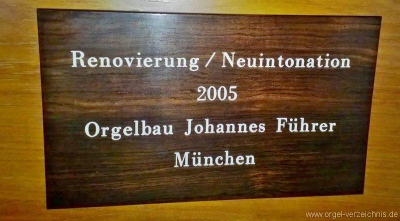 München Nymphenburg Christ-König Firmenschild I