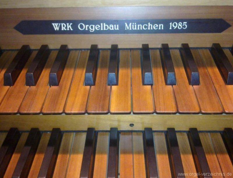 München Nymphenburg Christ-König Firmenschild II