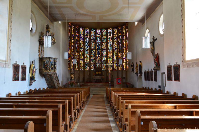 Albstadt Margrethausen St. Margareta Innenansicht II