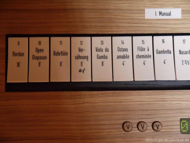 Berlin Mitte Kapelle der Versöhnung Registerstaffel Manual I I