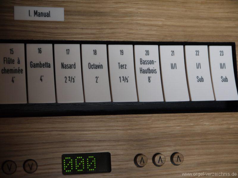 Berlin Mitte Kapelle der Versöhnung Registerstaffel Manual I II