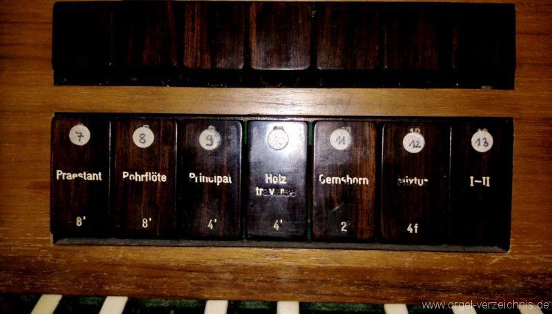 Kirchzarten Heilig Geist Kirche Registerstaffel Hauptwerk I