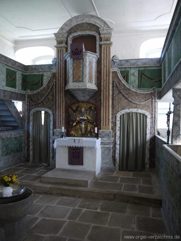 Kleinröhrsdorf Dorfkirche Kanzelaltar II