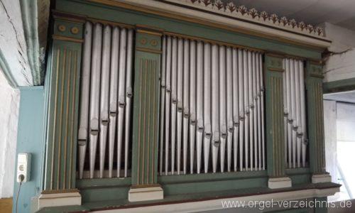 Lubolz Dorfkirche Orgelprospekt II
