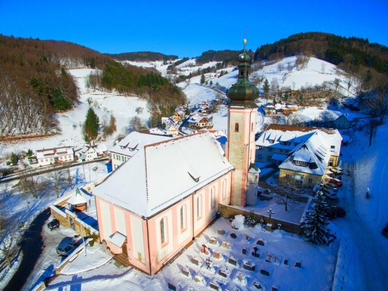 Bollschweil St. Ulrich im Schwarzwald St. Peter und Paul Aussenansicht I