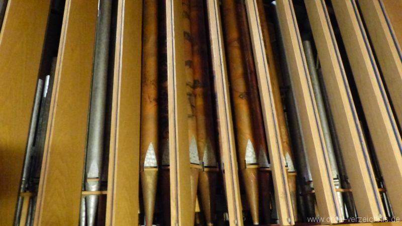 Breisach am Rhein Münster Orgelinneres Schwellbrustwerk I