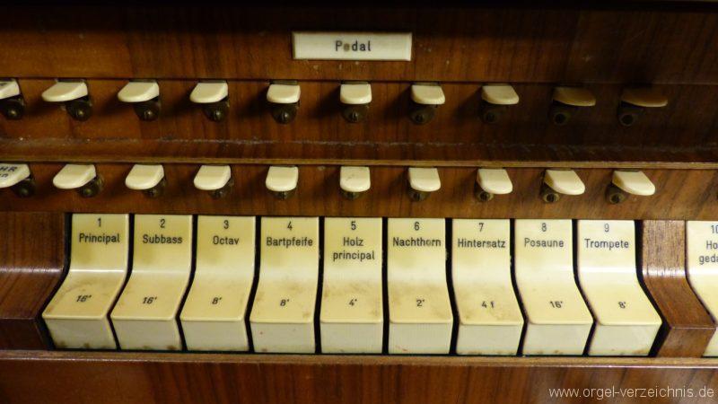 Breisach am Rhein Münster Registerstaffel Pedal I
