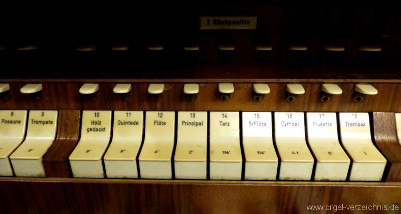 Breisach am Rhein Münster Registerstaffel Rückpositiv I