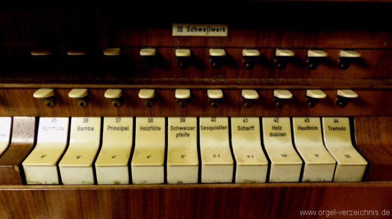 Breisach am Rhein Münster Registerstaffel Schwellwerk I