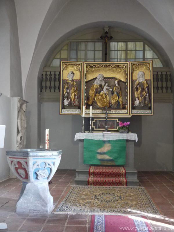 Wildenfels Härtensdorf Dorfkirche Zud en drei Marien Altar II